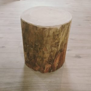Softwood Log Stool