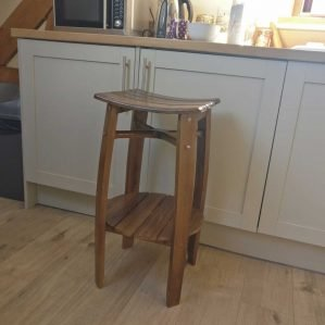 Varnished Oak Barrel Stool