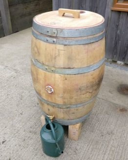 Oak Wine Barrel Water Butt
