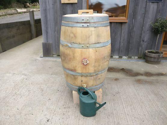 Oak Wine Barrel Water Butt