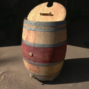 Wine Barrel Water Butt Water Storage with Tap