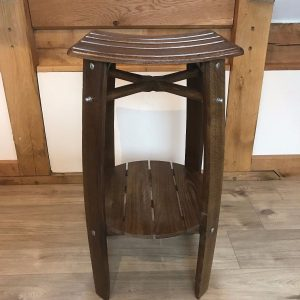 Oak Barrel Bar Stool