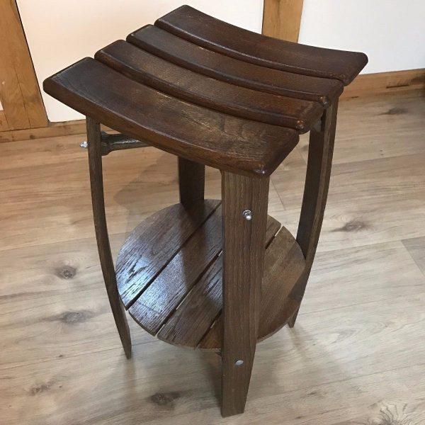 Wooden Bar Stool Made from Oak Barrel