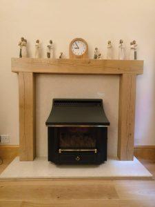 Contemporary Finished Oak Fireplace Surround
