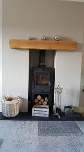 Lightly Worked Solid Oak Beam Shelf