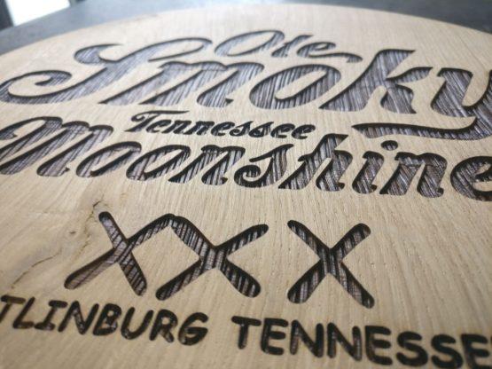 Engraved Wine Barrel