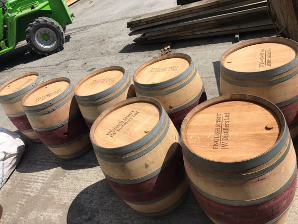 JW Distillers Ltd Wine Barrel Engraving in the Sunshine