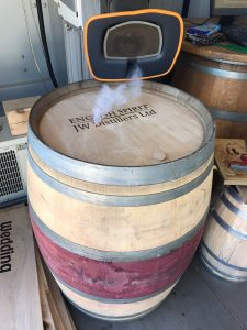 JW Distillers Ltd Wine Barrel Engraving