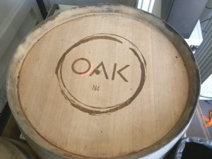 OakN4 Wine Bar Wine Barrel Engraving