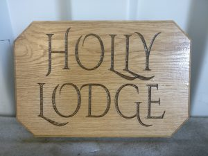 Personalised Laser Engraved House Plaque