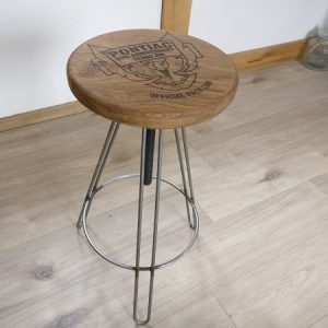 Personalised Bar Stool with Company Logo