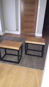 Handmade Kiln Dried Oak Stools / Coffee tables