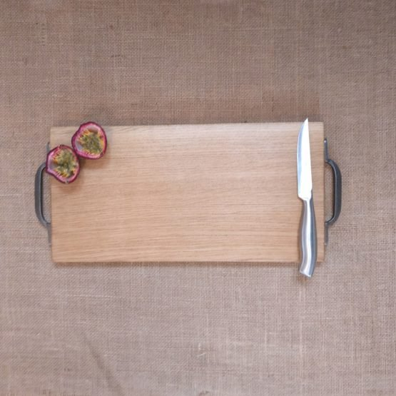 Oak Chopping Board with Metal Handles