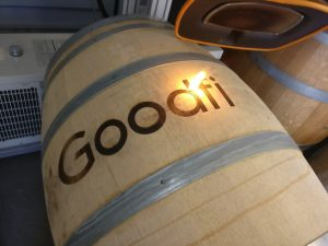 Goodfields Side Wine Barrel Engraving