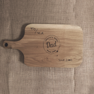 World's Best Dad - Personalised Engraved Chopping Board