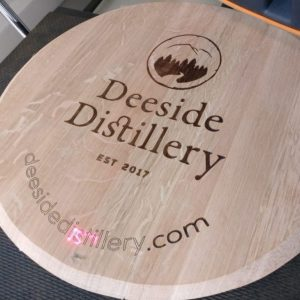 Laser Engraved Wine Barrel Lid
