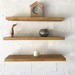 Pine shelving with Straight Brackets