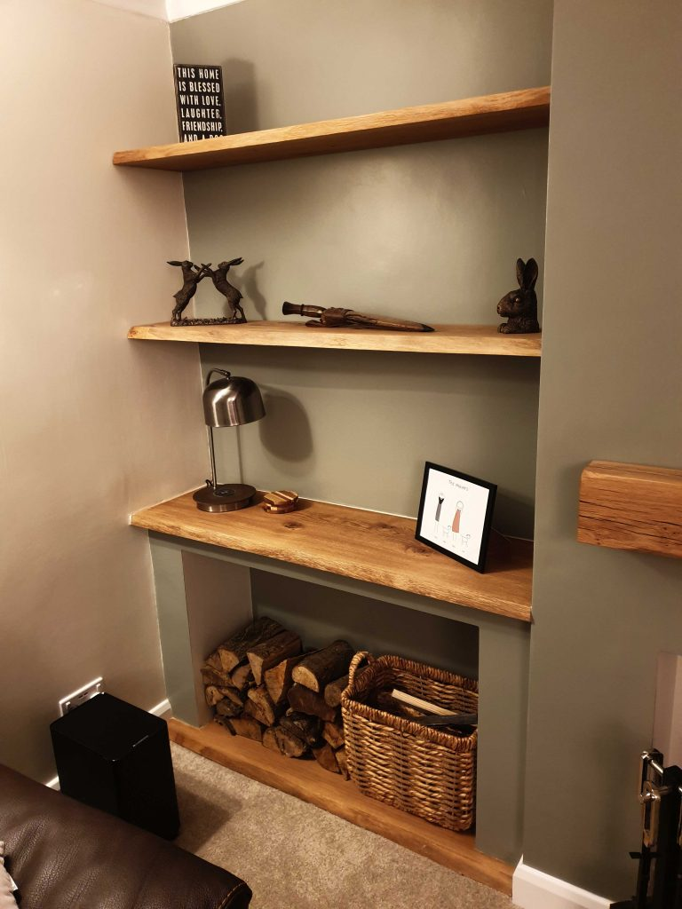 Oak Shelves - Kiln Dried with Waney Edge