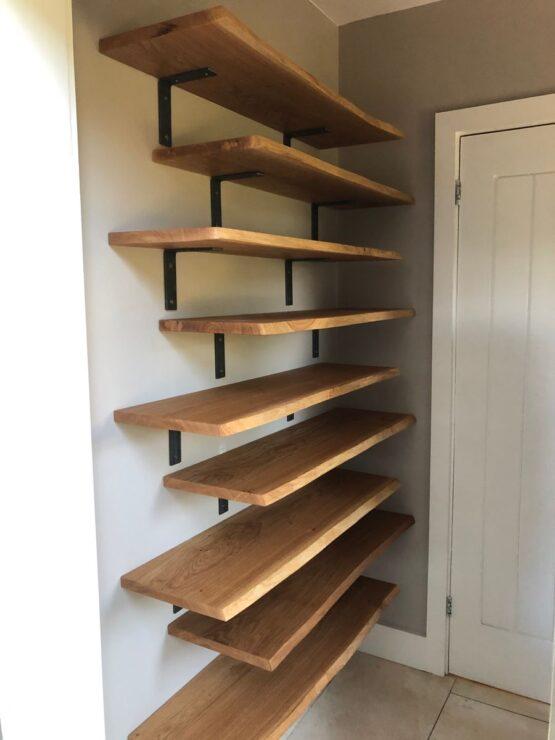 Kin Dried Oak Shelves - For Shoes