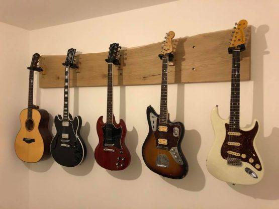Kiln Dried Oak Board Guitar Rack