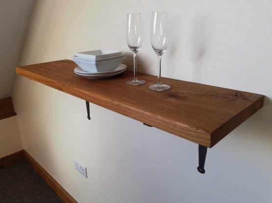 Solid Oak Shelves for Living Room or Office