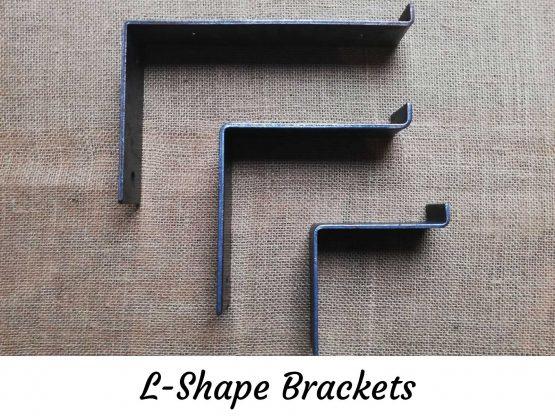 L-Shape Brackets for Oak Shelves