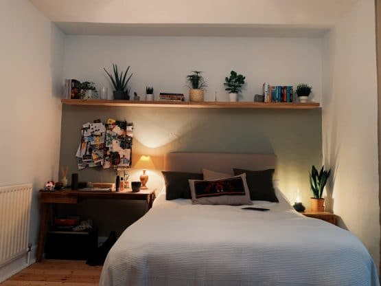 Oak Shelf for Books and Plants