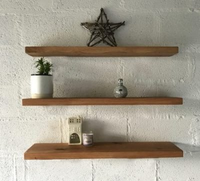 Oak Shelves with Straight Brackets