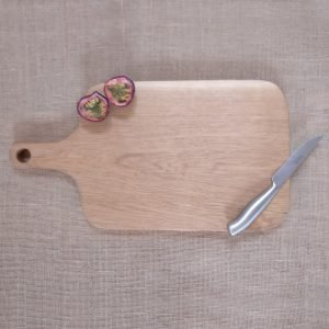 Thick oak chopping board with Wooden handle