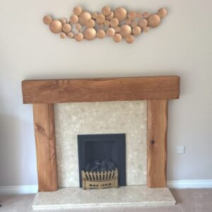 Old World Lightly Worked Chunky Fire Surround