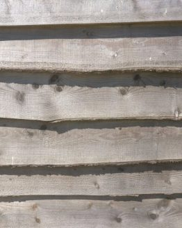 Larch Fencing with Natural Tree Waney Live Edge
