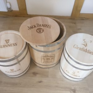 Branded and Engraved New Limewood Barrels