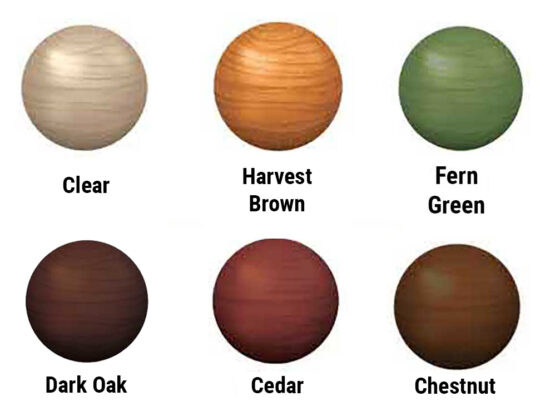 Exterior Coloured Wood Protector Oil for Larch and Cedar Cladding and Fencing