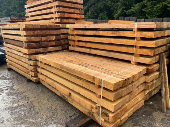 8x4 new hardwood oak railway sleepers