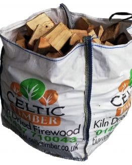 Kiln Dried Hardwood Logs in Pembrokeshire Builders Bag