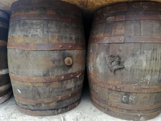 55 Gallon Dumpy Whiskey Barrels