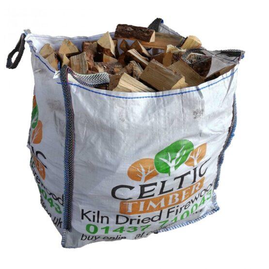 Kiln Dried Softwood Logs in Pembrokeshire Seasoned Builders Bag