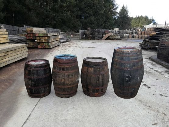 Oak Whiskey Barrels for tables, water butts, garden features