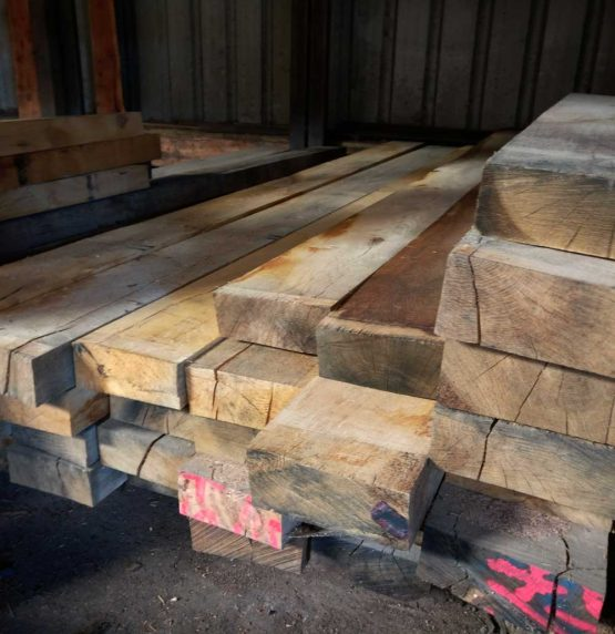 Sawn Only Air Dried Oak Beams