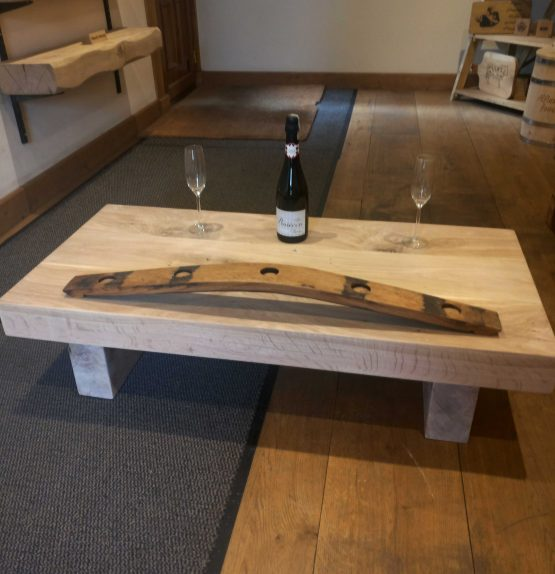 Solid Chunky Oak Beam Coffee Table