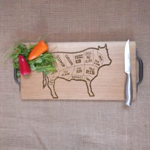 Chopping Boards - Cast Iron Handles