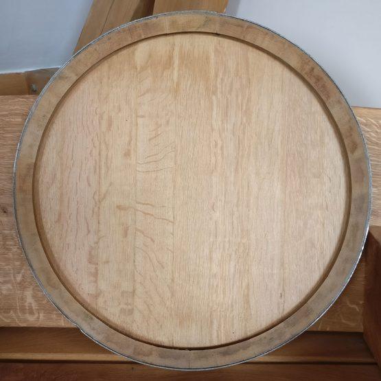 Oak Wine Barrel Lid with Steel Band