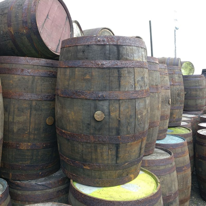 Grade B Authentic Whiskey Barrel
