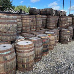 Solid Oak Rum Barrels 40 Gallon for Tables and decoration