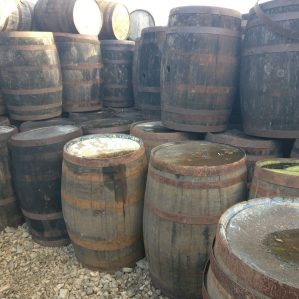 Damaged Clearance Whiskey Barrels
