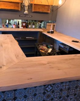Solid Oak Bar Top - Kiln Dried Oak Bar - Unoiled