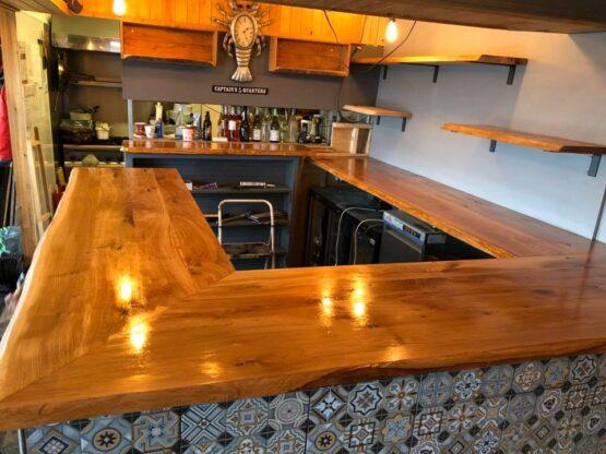 Solid Oak Bar Top - Kiln Dried Oak Bar - Oiled