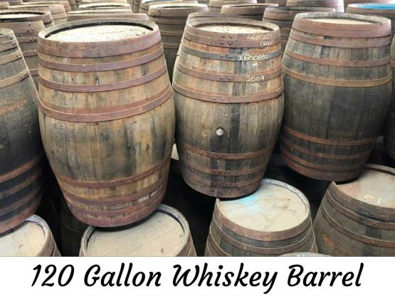 120 Gallon Oak Whiskey Barrel Watertight for Ageing Trade Alcohol Beer Wine