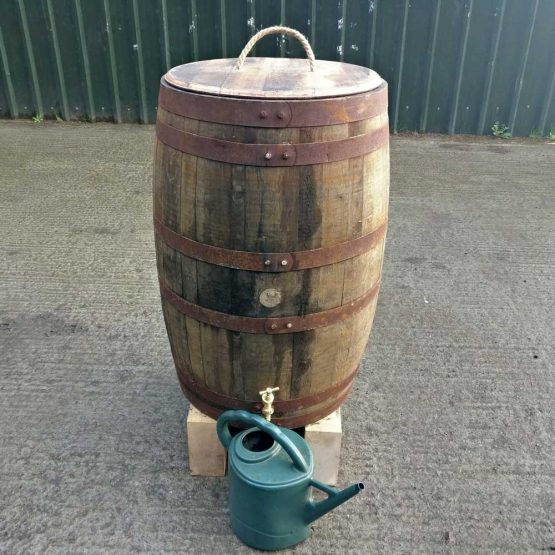 Genuine Whiskey Barrel Water Butt Rain Collector