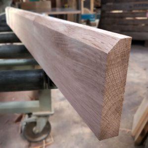 Chamfered Edge Oak Skirting Boards